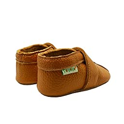 Sayoyo Baby Cute Plum Flower Soft Sole Leather Baby Shoes Baby Moccasins (12-18 months , Orange)