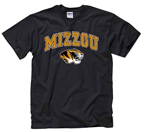 Campus Colors Missouri Tigers Adult Arch & Logo Soft Style Gameday T-Shirt - Black, X-Large