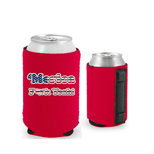 Merica F Yeah Magnetic Can Coolie (1, - Magnetic Beer
