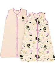 TILLYOU Cotton Sleeveless Sleep Bag Baby Wearable Blanket for Infants Newborns