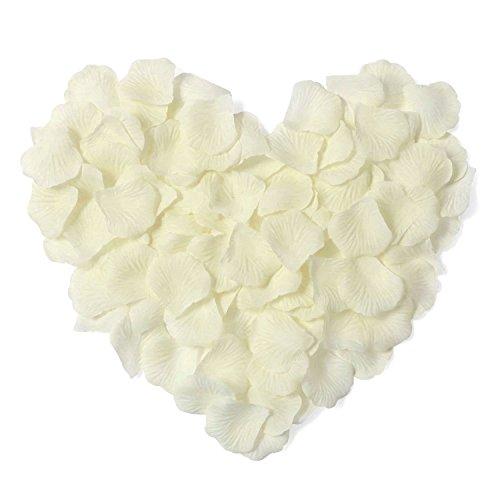1000pcs Ivory Silk Rose Petals Artificial Flower Wedding
