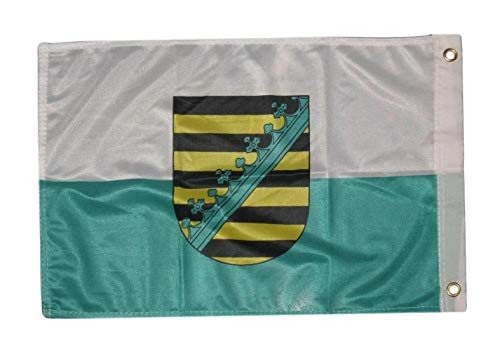 Mikash 12x18 12x18 Saxony Crest Rough Tex Knitted Boat Flag Banner Grommets | Model FLG - 3709