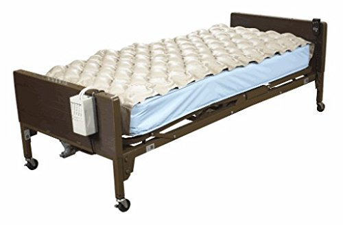 Alternating Pressure Mattress (Alternating Pressure Mattress - Includes Electric Pump & Mattress Pad - Helps Treat Pressure Ulcers and Pressure Sore - Fits Standard Hospital Beds - 78