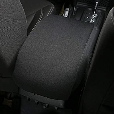 for JK Center Console Cover Pad Armrest Cover Cushion for 2011-2020 Jeep Wrangler JK JKU Sahara Sport Rubicon X & Unlimited: Automotive