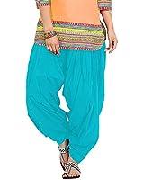 Pi World Women's Cotton Salwar Suit (skybluepatiala _Multi-Coloured _Free Size)