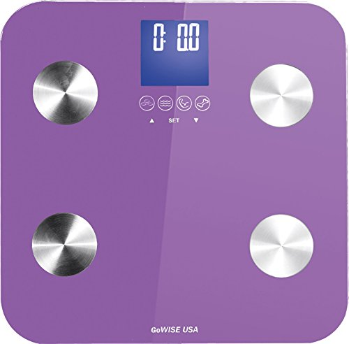 GoWISE USA Body Fat Scale with FDA approved– Measures Weight, Body Fat, Water, & Bone Mass 400 Lbs...