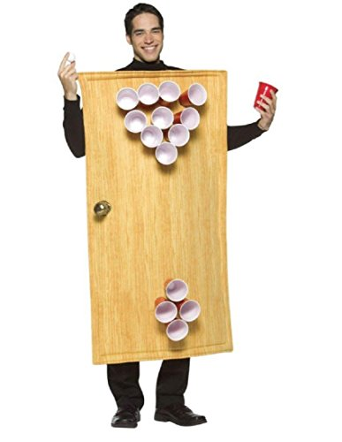 Rasta Imposta Beer Pong Costume 14 Cups Included, Brown, One Size