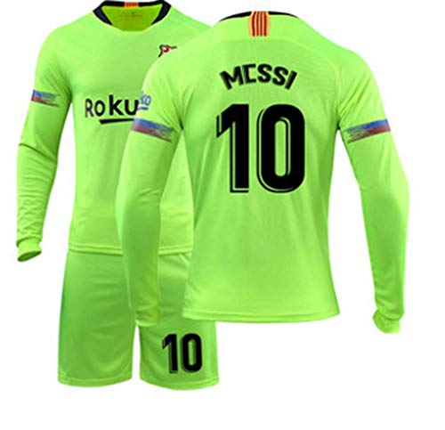 19 Away Soccer Jersey - LISIMKE 2018/19 New Barcelona Messi Away Soccer Men's Soccer Jersey (M)