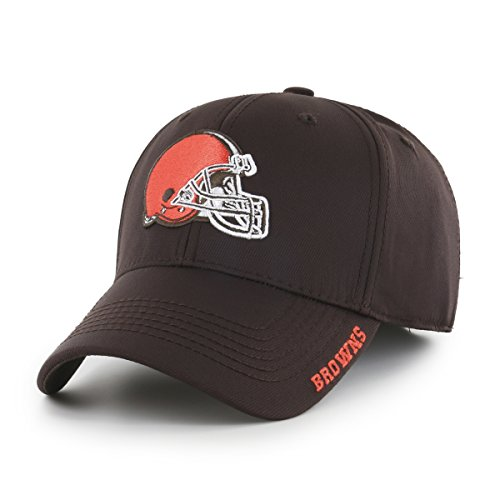 NFL Cleveland Browns Start Line OTS Center Stretch Fit Hat, Brown, (Cleveland Browns Cap)