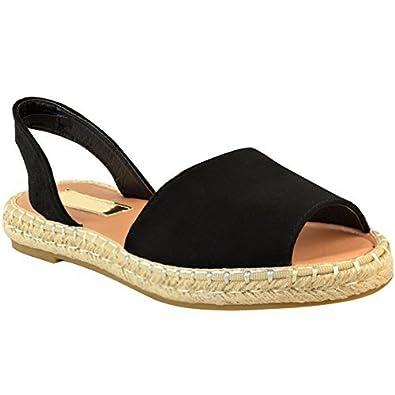 e71cbd61b13bb Fashion Thirsty Sandales à Enfiler - Talon Plat Bride Arrière - Pour  L Été la Plage - Femme  Amazon.fr  Chaussures et Sacs