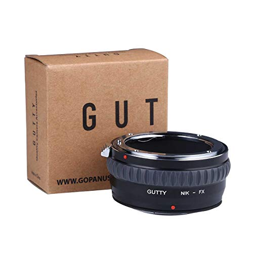 Gutty Lens Mount Adapter Ring for Nikon AI Mount Lens to Fujifilm FX FujiX-Pro1X-Pro2X-E1X-E2X-M1X-A1X-A2X-A3X-A10X-M1X-T1X-T2X-T20X30 Camera Body