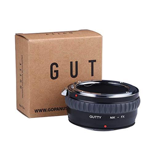Gutty Lens Mount Adapter Ring for Nikon AI Mount Lens to Fujifilm FX FujiX-Pro1X-Pro2X-E1X-E2X-M1X-A1X-A2X-A3X-A10X-M1X-T1X-T2X-T20X30 Camera Body (Adapter Nikon X Fuji)