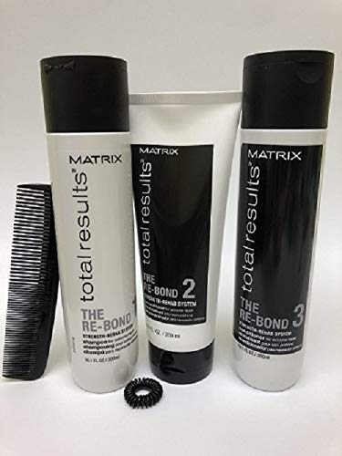 - Matrix Total Results The Re-Bond Repair Damaged Hair Full Size (Comb & Spiral Hair Tie Included)