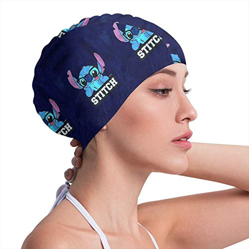 (Lbbb1994 Adult Fun Swim Cap,Silicone Swimming Cap for Women Men Long Hair - Stitch Design Comfortable and Durable)
