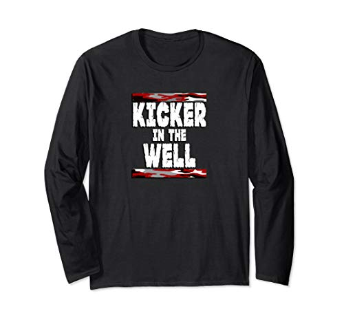 Kicker in the Well Red Camo Apparel Long Sleeve T-Shirt