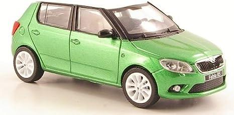 Skoda Fabia Ii Rs Met Grün Mit Weissem Dach Und Felgen 2010 Modellauto Fertigmodell Abrex 1 43 Spielzeug