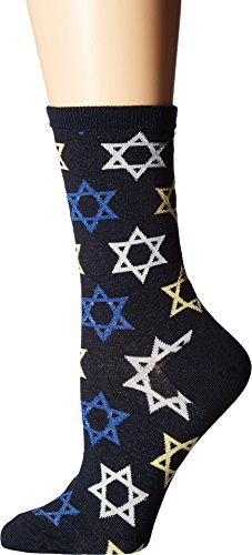 Jewish Girl (Socksmith Women's Star Of David Crew Socks, Navy, Medium)
