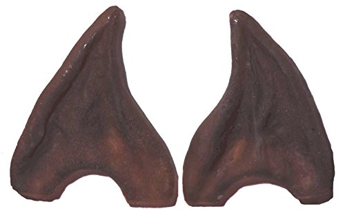 [Adult Brown Latex Werewolf Worgen Alien Pointy Ear Tips LARP Cosplay Warcraft] (Lord Of The Rings Child Arwen Costume)
