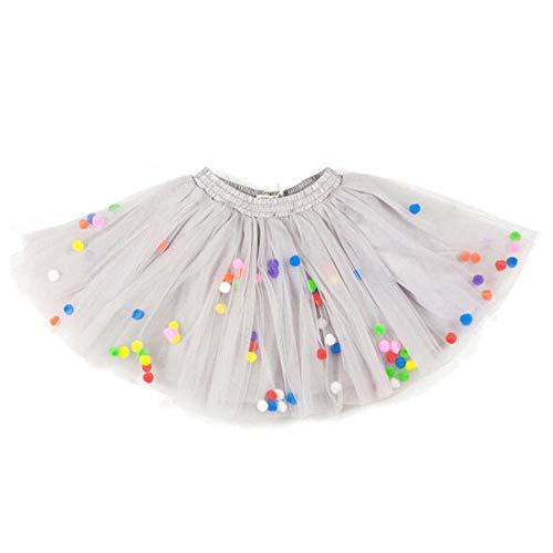 Triple Layer Tulle - SANGQU Baby Girls' Polka Dot Tutu Glitter Ballet Triple Layer Tulle Dance Skirt Gray