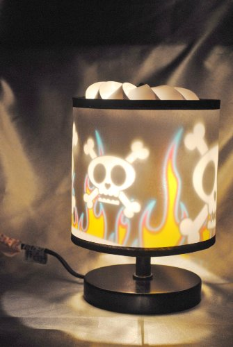 Skull & Fire Magic Spinning Lamp (Spinning Lamp Shade)