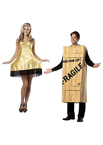 Couples Movie Costumes (Christmas Story Wooden Crate Men And Leg Lamp Women Couples Costumes)