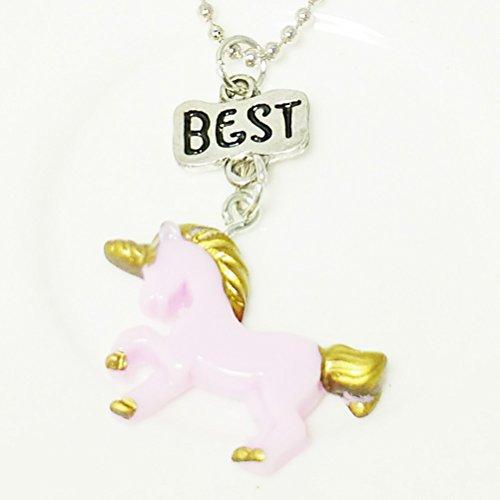 Gifts Symbolize Necklace Necklace Pendant for Delicate Friends Unicorn Set Children Necklace Friendship pcs Boys Girls 3 Best Forever Best Last zH58qSxw