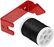 Baosity Black 110 Meters Bow String Serving Thread & Red Peep Sight Installer Bow String Separator Archery