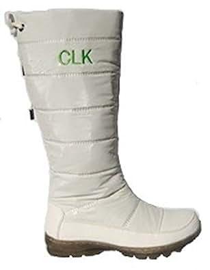 Amazon.com | Christina LK White Rain Boots Snow Boots (7.5