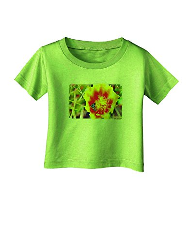 TooLoud Bee Cactus Watercolor Infant T-Shirt - Lime Green - 06Months