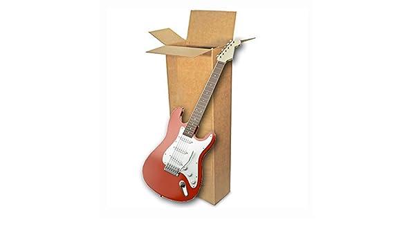 EcoBox E-4237 - Caja de cartón ondulado para guitarra eléctrica, 45,7 x 15,2 x 114,3 cm: Amazon.es: Oficina y papelería