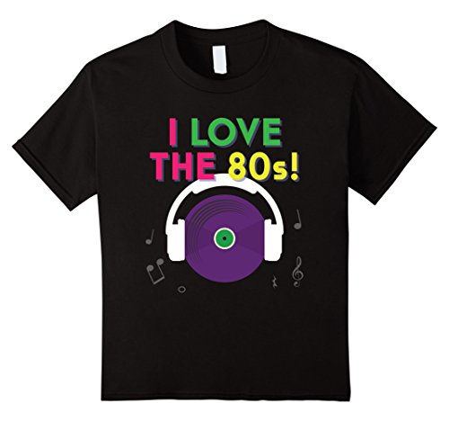 [Kids I Love The 80s Shirt - Retro Eighties Tee 4 Black] (Toddler 80s Costumes)