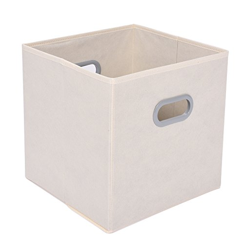 UPC 602310182287, Cloth Cube Organizer, MaidMAX Nonwoven Collapsible Fabric Drawer Storage Cube with Dual Handles for Christmas Gift, Beige