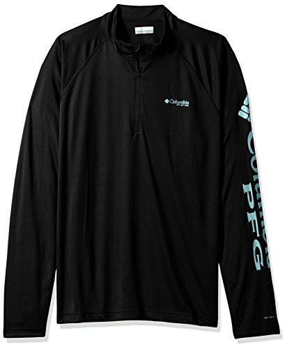 Columbia Men's Terminal Tackle 1/4 Zip Shirt, Black, XX-Large