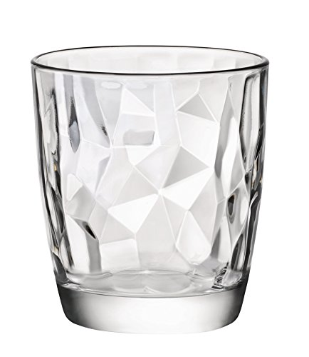 Bormioli Rocco Diamond  13.25 oz. Double Old Fashioned Glass, Set of 4