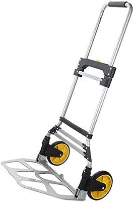 Bdclr Cargue Rey de aleación de Aluminio Escalera Coche Carro de Equipaje Carro portátil Carro de la Compra en el Carro Carro Carro: Amazon.es: Deportes y aire libre