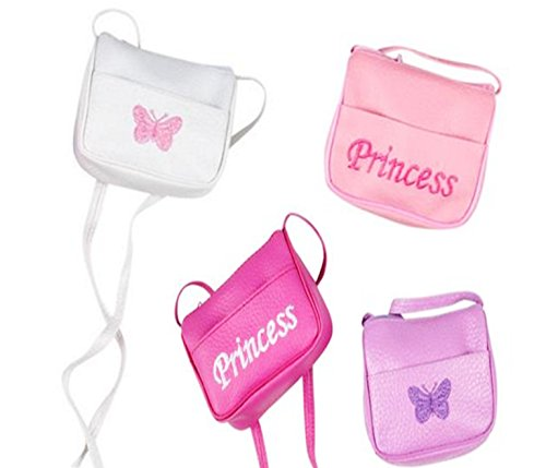 Little Princess Mini - Play Kreative Mini Handbag Girl Purse with Strap. 4 Mini Princess Purse handbags