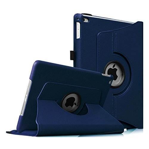 Fintie iPad Air 2 Case (2014 Release) - 360 Degree Rotating Stand Protective Case Smart Cover with Auto Sleep / Wake Feature for Apple iPad Air 2, Navy