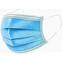 LYTIO Mascarilla Cubrebocas Plisado 3 Capas Reforazado Desechables con Orejeras de Liga Elastica Quirurgico Respirable Protege contra Germenes Polvo Bacterias (10 Piezas)
