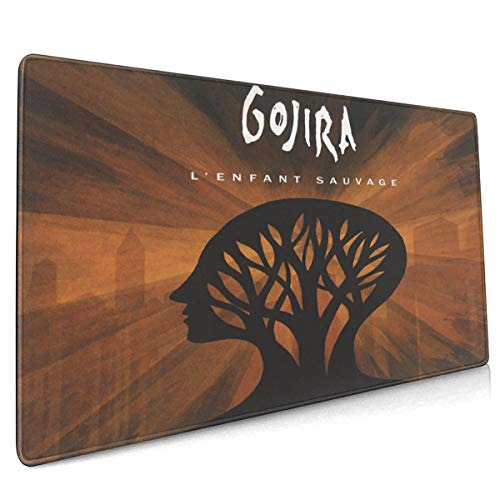 MDECTTHY Gojira - L' Enfant Sauvage Large Cool Mousepad Gaming Mouse Pad,Non-Slip Rubber Base Thick Extended Mat for Office/Home&Gamer