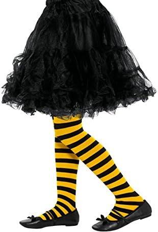 Smiffys Collants ray/é abeille enfant,Jaune et noir,
