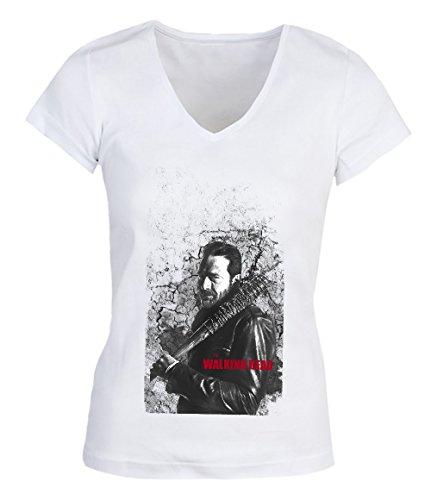 Walking Dead Series Grey Man Red Quote Damen V-neck T-shirt