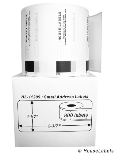 "UPC 610395503682, BROTHER-Compatible DK-1209 Small Address Labels (1-1/7"" x 2-3/7""; 29mm62mm) -- BPA Free! (6 Rolls; 800 Labels per Roll)"