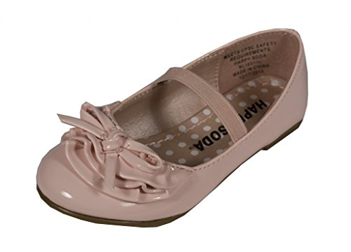 Soda Kid's Girly Bono-2Q Mary Jane Bow Flats, pink patent leatherette, 7 T (Pink Soda Shoes compare prices)