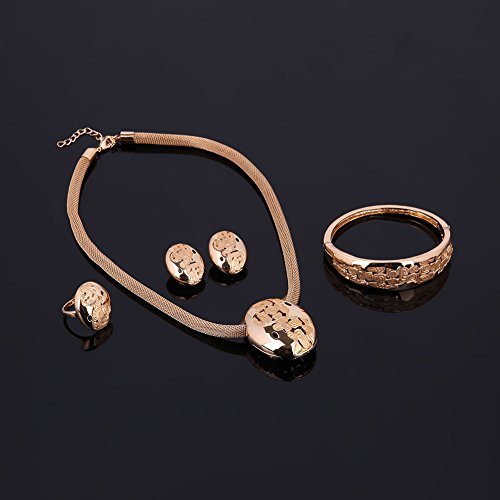 Bluelans moda forma ovalada pendientes collar pulsera mujer joyería Set