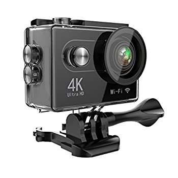 Hiearcool H9 Action Camera 4k Ultra Hd 12mp Wifi Sport Cam Waterproof Underwater 30m, Dual 2inch Lcd Display, 170° Wide Angle Lens - 25 Accessories Kits 0