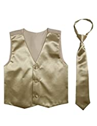 Paperio Vest and Tie Set Boys, Multiple Colors, Baby Infant Toddler Kids, Long Tie