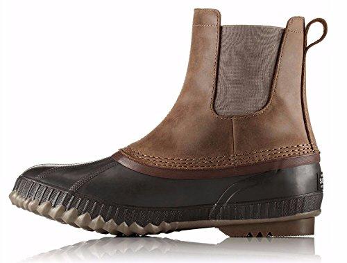 SOREL Mens Cheyanne II Chelsea Snow Boot, Umber/Buffalo, Size 10