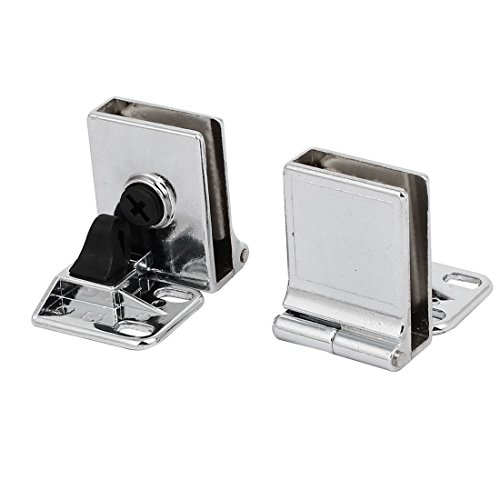 uxcell Metal Wall Mounted Glass Holders Door Hinges Clamps Clips - Mirror Hinge