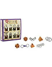 Professor Puzzle Great Minds Set of 8 Puzzle Compendium Brain Teaser