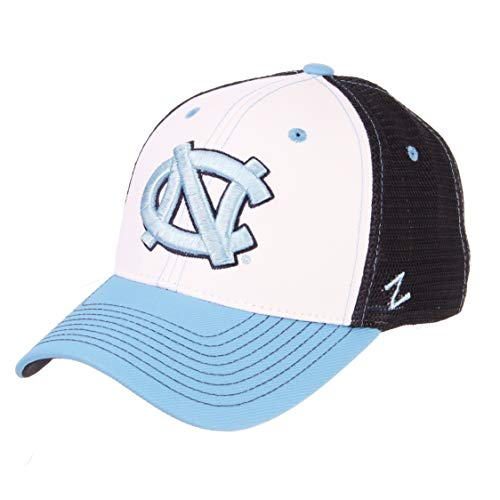 ZHATS NCAA North Carolina Tar Heels Mens Threepeatthreepeat Relaxed Cap, White/Team Color, ()